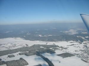 Motorsegler über Siegerland